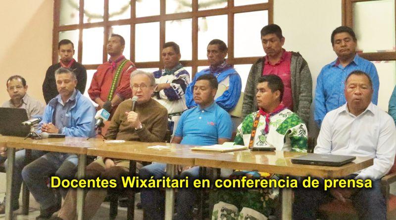 Docentes Wixaritari de Jalisco denuncian fraude